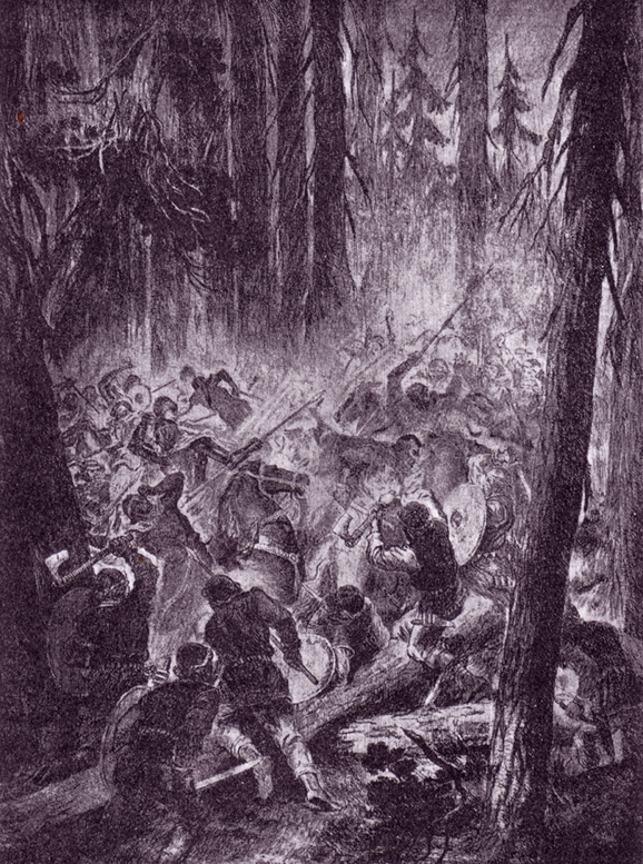 Battle in forest